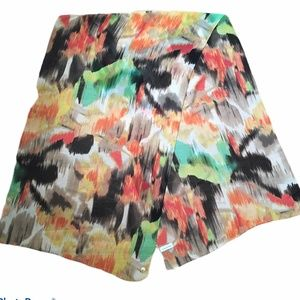 Calvin Klein Abstract Large Chiffon Oblong Scarf